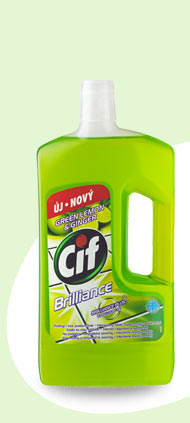 CIF Brilliance Green lemon a ginger 1l