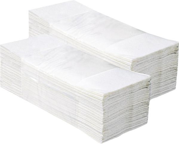 PAPÍROVÉ RUČNÍKY skládané Z-Z 2-V, bílé 3000ks,Harmony, 100% celuloza
