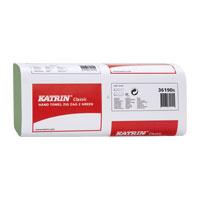 PAPÍROVÉ RUČNÍKY skládané Katrin HandyPack 21x150ks zelené 61717