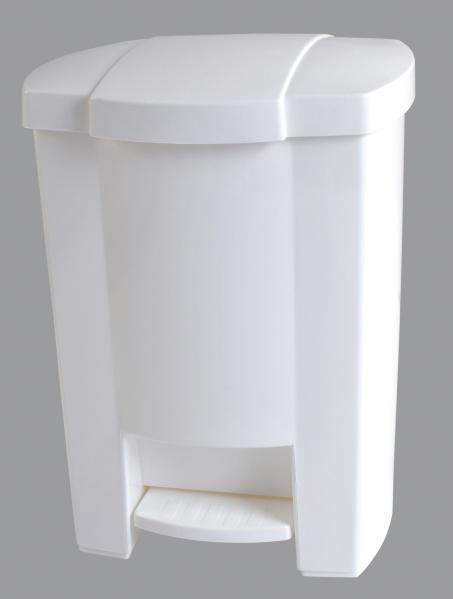 KOŠ NA ODPADKY s nožním pedálem, plast, bílý 7,5l