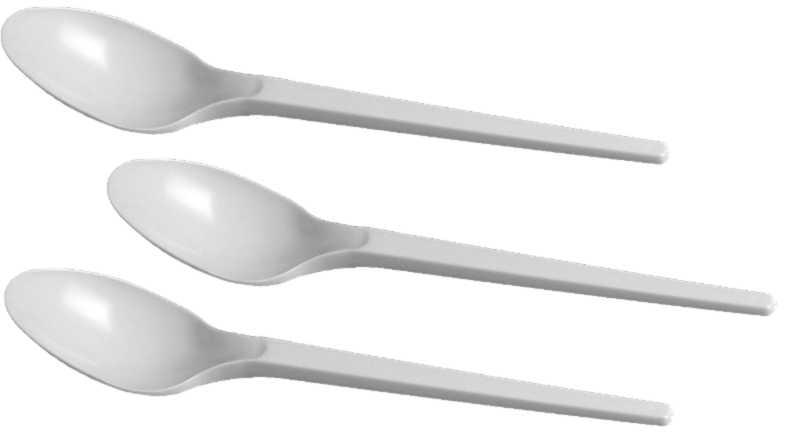 LŽIČKA bílá 17 cm, PP, 100ks