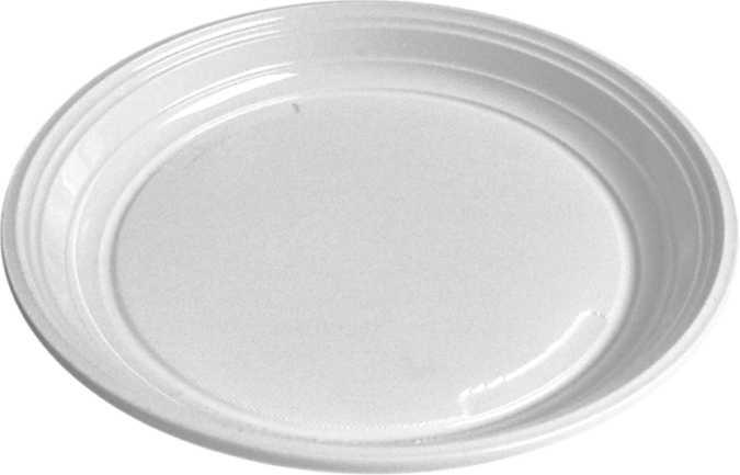 TALÍŘ mělký, bílý 20,5 cm, PP, 100ks