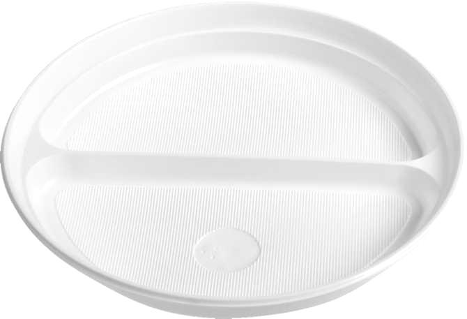 TALÍŘ dělený na 2 porce, bílý 22 cm, PS, 100ks BITTNER