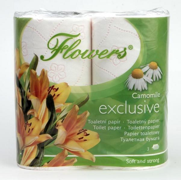 TOALETNÍ PAPÍR FLOWERS DELUXE 3-vrstvý s vůní