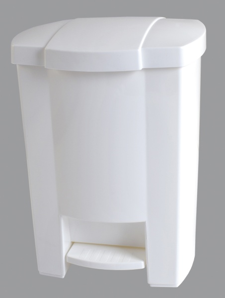 KOŠ NA ODPADKY s nožním pedálem, plast, bílý 12l