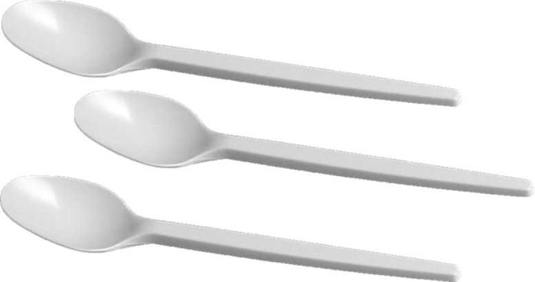 KÁVOVÁ LŽIČKA bílá 12,5 cm, PP, 100ks